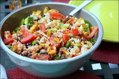 Packable Mexican Salad. Even Men love this protein rich lunch that also contains healthy carbohydrate brain fuel to carry through the afternoon. My favorite salsa is Arriba brand which contains very few additives.