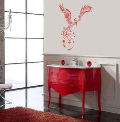 Wall Decals Phoenix Bird Home Vinyl Decal Sticker Kids Nursery Baby Room Decor 855 Love the furniture  made sink