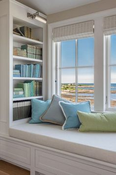 50 Pervect Window Nook Design Ideas To Get Cozy Space In Your Home - Page 27 of 50 Bedroom Reading Nooks, Bedroom Nook, Home Decor Bedroom, Reading Room, Bedroom Girls, Bookshelf Design, Bookshelves Built In, Home Room Design, Design Bedroom