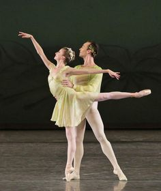 """Sterling Hyltin and Tyler Angle in """"Spring"""" from Jerome Robbins' """"The Four Seasons"""" (NYC Ballet, 2013)."""