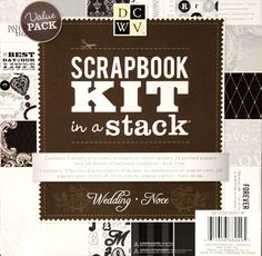 DCWV Wedding 8 x 8 Scrapbook Kit In A Stack is available at Scrapbookfare.