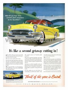 Vintage Auto Poster  1955 BUICK  Advertising by southcoaststudio, $12.00