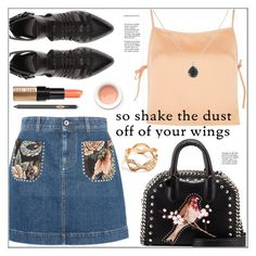 """So Shake the Dust Off Your Wings (TFS)"" by pat912 ❤ liked on Polyvore featuring STELLA McCARTNEY, Zara, Topshop, Ippolita, Bobbi Brown Cosmetics, Korres, GUESS, polyvoreeditorial and embroidery"