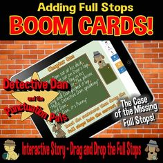 Distance Learning - Punctuation Full Stops - Interactive Story - Boom Card Set Learn To Sign, Learn To Read, Full Stop, Fast Finishers, Interactive Stories, Reading Resources, Elementary Teacher, Printable Worksheets, Punctuation