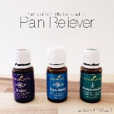 Young Living Essential Oils // Pain Reliever Valor peppermint and pan away