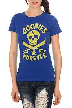 dd63ebfffd2 The Goonies Forever Girls T-Shirt-  26.50 Goonies never say die! Forever  Girl