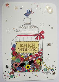 Happy B Day, Happy New Year, Jar Of Hearts, Birthday Cards, Happy Birthday, Art Carte, Disney Wallpaper, Positive Attitude, Gift Packaging