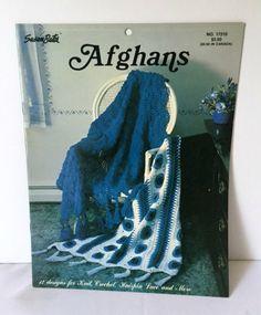 Susan Bates Afghans Hairpin Lace Crochet Pattern 12 Designs Irish Daisies Strips Shells 17310 Vintage