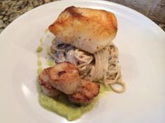 Pan-sheared Halibut Cheek Eat clean and classy! Visit http://www.chefkevwinston.com/ to book your private chef today.