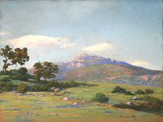 WILLIAM OTTE (1871-1957) On Mountain Drive – Santa Barbara, 1915