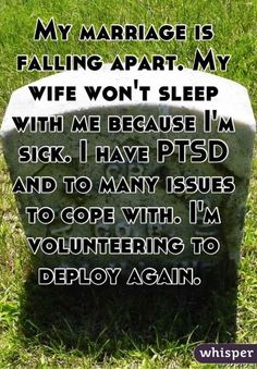 """What PTSD Is Actually Like According To Real Military Veterans. """"I'm honestly surprised I'm not another veteran suicide stat,"""" said Wandering Warrior. """"More guys are dying by suicide than combat. Do a story on that."""" < this is sad Ptsd Military, Military Veterans, Military Life, Military Spouse, Military Quotes, Ptsd Awareness, Stress Disorders, Post Traumatic, My Demons"""