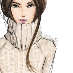 """Winter staples: chunky turtleneck and tucked hair. She's on Etsy as """"In For The…"""