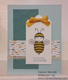 Carolyn's Paper Fantasies: Baby Bumblebee ~ Sketch Challenge Sweet Dreams DSP Carolyn Bennett Stampin' Up!