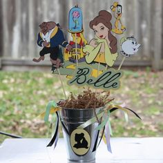 Disney's Princess Belle party centerpiece. $32.00, via Etsy.