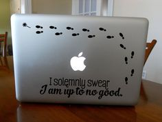 Solemnly Swear I'm up to No Good! Unique Harry Potter Macbook Decal door MarkedCo op Etsy https://www.etsy.com/nl/listing/198659690/solemnly-swear-im-up-to-no-good-unique