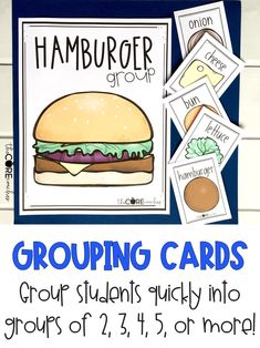 Print off these cards for a fun and quick way to group your students.