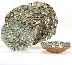 Pebble Dinnerware - Antique Turquoise Set of 4 modern dinnerware