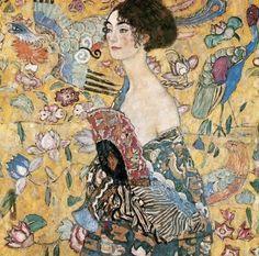 """""""Woman with Fan"""" by Gustav Klimt"""
