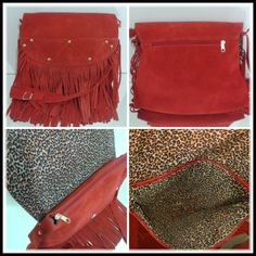 E que tal acompanhar também a tendência das cores?  Totalmente Charmosa!!! Bolsa em Couro Ecológico nas cores Vermelho e Caqui. Dimensões: 25cm x 21cm.