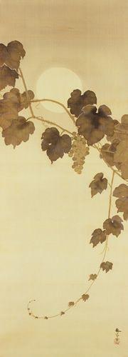 菱田春草 Shunso Hishida『葡萄図』(1910)水野美術館蔵