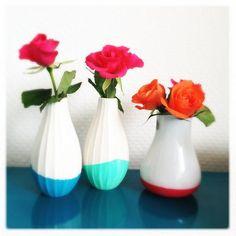 DIY home decor crafts :DIY Vase : DIY neon vases