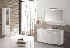 Eban Abate Ceramiche Curved Lines, Base, Bath Design, Solid Wood, Bathtub, Bathroom, Collection, Standing Bath, Washroom