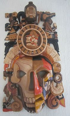 Giant Maya Mask 27.5 Inches by  16.5