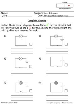 Worksheets Circuit Worksheets pinterest the worlds catalog of ideas complete circuits worksheet