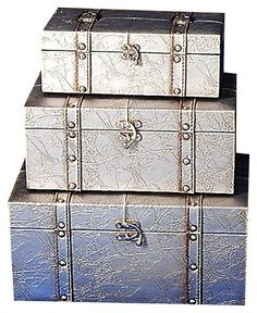 Color Plata   Silver!!! Eclectic Storage Boxes, Storage Trunk, Shades Of