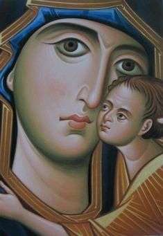 Arhimandritul Zenon – icoana Madonna, Orthodox Icons, Virgin Mary Art, Byzantine Art, Drawings, Painting, Oil Painting, Artwork, Artsy