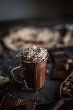 Adventures in Cooking: Melted Hot Chocolate With Sea Salt Whipped Cream