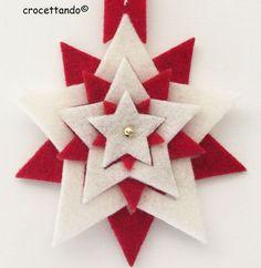 Stella natalizia ideata e realizzata da giuseppina ceraso crocettando https://crocettando.wordpress.com/2015/10/26/regalini-e-idee-per-il-natale/