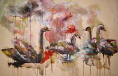 """Illusion und Loyalität"", Acryl auf Leinwand, 150 x 100 cm"