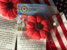 Did you know you can raise awareness of the meaning behind the poppy and benefit veterans, military, and their families by baking cookies? That's exactly what an American Legion Auxiliary unit in P… American Legion Auxiliary, American Legions, Memorial Day Poppies, Poppy Images, Poppy Craft, Veterans Benefits, Veterans Day, Craft Gifts, Crafts To Make