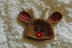 Reindeer Crochet Hat Available in Any Size for by alanemarie Reindeer Hat b7e2b8a2aa45