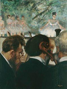 """Edgar Degas – """"Musicians in the Orchestra"""" (Músicos na Orquestra) - 1872"""