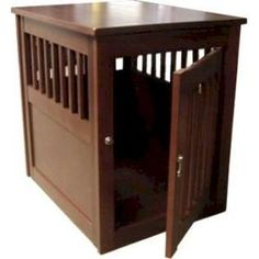 End table dog crate on pinterest dog crates end tables for Sofa table dog crate