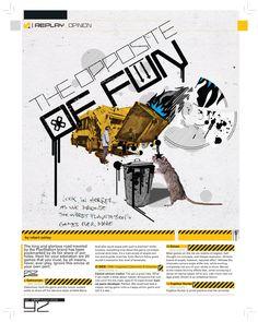 Magazine layout by Alejandro Chavetta