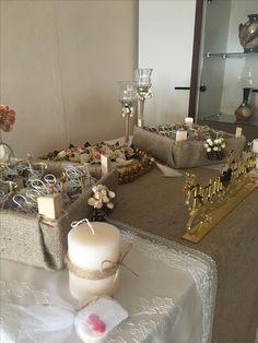 El yapımı nişan masası