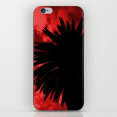 Palm Trees Silhouette - Red Sunset iPhone & iPod Skin