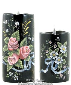 The Decorative Painting Store: Floral Candles e-Pattern DOWNLOAD, All Pattern Packets