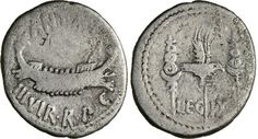 NumisBids: Numismatica Varesi s.a.s. Auction 65, Lot 119 : MARC'ANTONIO (32-31 a.C.) Denario, leg. IX. B. 116 Syd. 1227 ...
