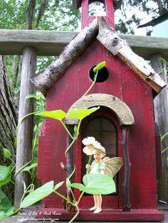 Wee fae in the garden. (Garden of Len & Barb Rosen)  ourfairfieldhomeandgarden.com