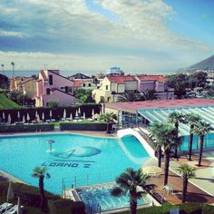#beautiful #resort at #loano2village #swimmingpool #bluesky #wonderful #italy #rivieraligure #loveit