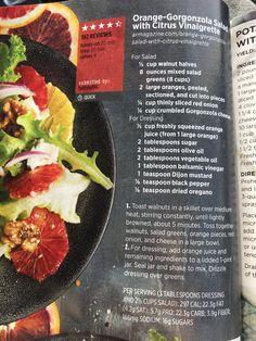 Orange-Gorgonzola Salad with Citrus Vinaigrette