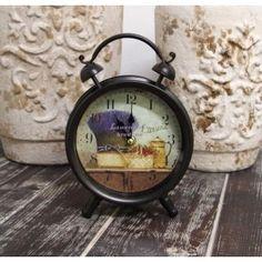 69zł, Retro Zegarek Budzik Bukiet Lawendy to ciekawy zegar stojący w kształcie budzika.