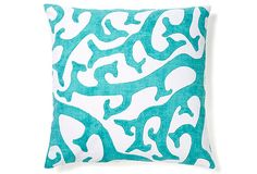 Reef 20x20 Pillow, Teal on OneKingsLane.com