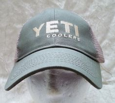 df396e0116c Yeti Coolers Truckers Hat Adjustable Strap Cap Olive  amp  Beige Mesh New  with Tag