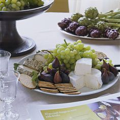 The cook lays out grapes, figs, crackers, and cheese. So basic, so Ina!...  Contessa Barn - Ina Garten Hamptons Barn