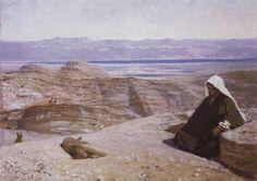 "Pslam 55/Salmo 54 ""Uciekłbym daleko, zamieszkał na pustyni."" ""I would escape far away and take refuge in the desert."" ""Emigraría lejos, habitaría en el desierto."""